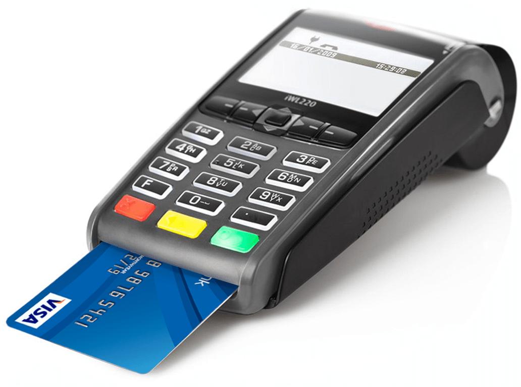 Pos-терминал с банковской картой