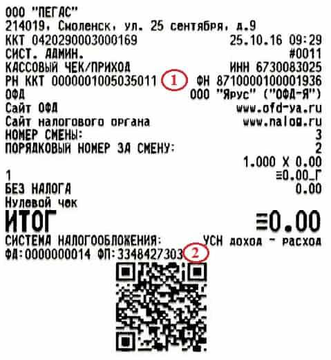 Рисунок 11. Чек для проверки на сайте ОФД-Я. Источник: сайт ofd-ya.ru