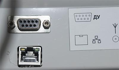 Рис. 6. Разъемы Ethernet и COM ЭКР-2102К-Ф. Источник: сайт оператор фискальных данных