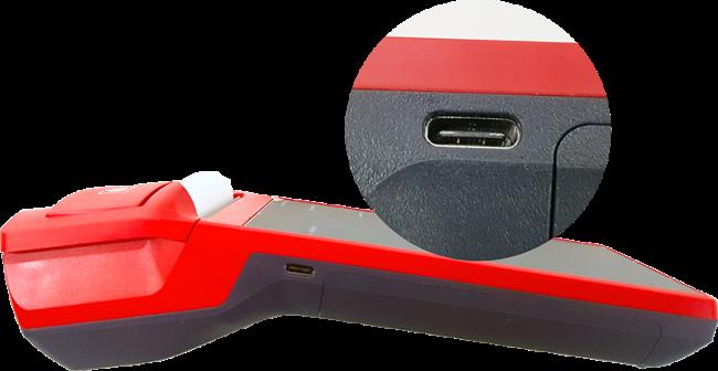 Рис. 7. USB- порт расположен на боковой панели устройства