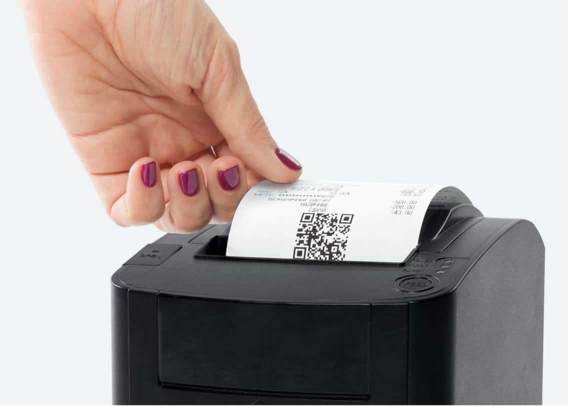 Процесс печати чека на онлайн-кассе