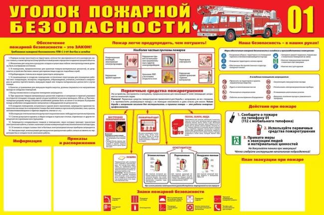 Рис. 2. Уголок противопожарной безопасности.